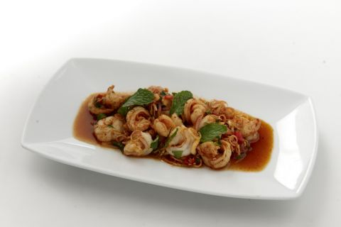 Prawn Salad with Roasted Chilli Paste